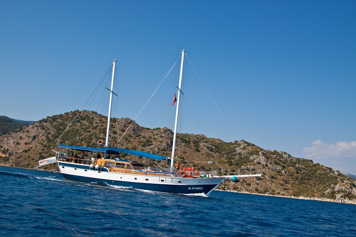 Travel with an experienced crew as you sail along the Turquoise Coast of Turkey