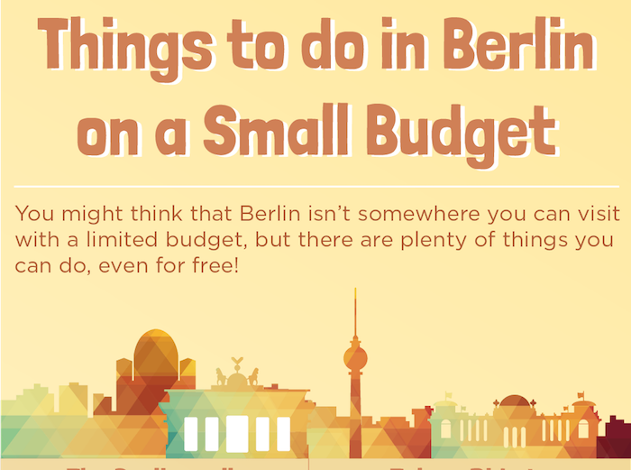 Berlin on a Budget: InfoGraphic